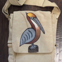 IPad Bag with Hand Painted Pelican
