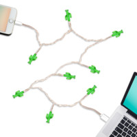 LED Charging Cable for iPhone 5,6,7,8: Cactus