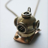 Unexpected Expectancy | Scuba Helmet necklace | Online Store Powered by Storenvy