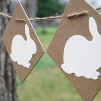 Easter Banner Decoration Easter Bunny Cream and Brown Perfect for photo prop or party