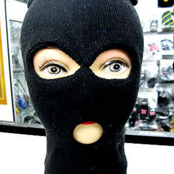 Full Beanie Face Black Ski Mask face mask costume halloween attire-New!