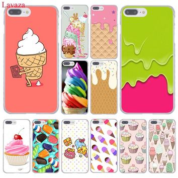 Lavaza Melt Ice cream Cream Fancy Rainbow Swirl Hard Phone Case for Apple iPhone 8 7 6 6S Plus X 10 5 5S SE 5C 4 4S