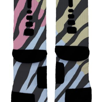 Zebra Print Custom Nike Elite Socks