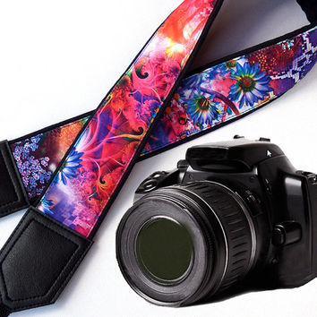 Floral camera strap. DSLR Camera Strap. Camera accessories.Photo accessories. Colorful camera strap for Canon, Nikon, Fuji & other cameras.