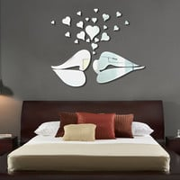 Mirror Wall Sticker Children Living Room Bedroom Sofa Decoration Stickers [4923108164]