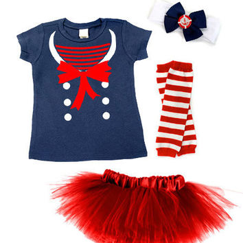Nautical Darling Sailor Toddler Tutu Costume