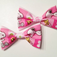 Snoopy Peanuts Mini Bows (set of two)