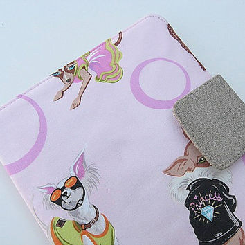 Ready To Ship Nook Simple Touch Cover Nook Glowlight Glolight Cover Case Handmade Pink Chihuahua Chiwawa Diva Dogs Fashionistas eReader