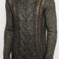 ASOS Cable Sweater in Brushed Texture