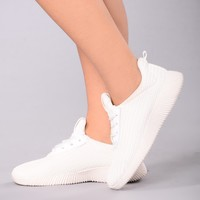 Kick It Up Sneakers - White
