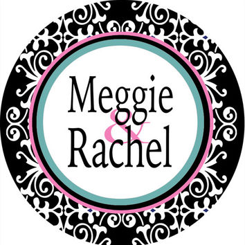 Preppy Roommates Dorm Sign is a great gift! Personalized to Match the colors of the dorm room. 4 Backgrounds.  Perfect on a dorm door!