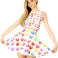 HEART EMOJI SKATER SKIRT