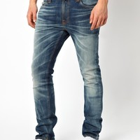 Nudie | Nudie Jeans Thin Finn Skinny Fit Sang Bleu Wash at ASOS