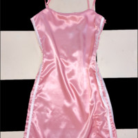 SWEET LORD O'MIGHTY! SILK KITTEN DRESS IN POWDER PINK