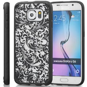 Samsung Galaxy S6 Case, Vena URBAN Design Slim Fit Cover Hybrid Case for Samsung Galaxy S6 (QUILL Black)