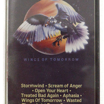 Vintage 80s Europe Wings of Tomorrow Heavy Metal Album Cassette Tape
