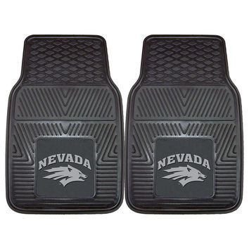 Nevada Wolf Pack NCAA Heavy Duty 2-Piece Vinyl Car Mats (18x27)