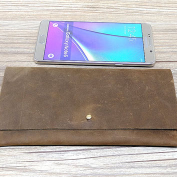 Crazy Horse Leather Samsung Galaxy Note 4 case,Samsung Note 5 Wallet Case.Leather Note 4 Sleeve,Woman leather wallet,gift,1E18