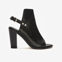 rag & bone Wyatt Leather Slingback Peep-Toe: Black | Shop IntermixOnline.com