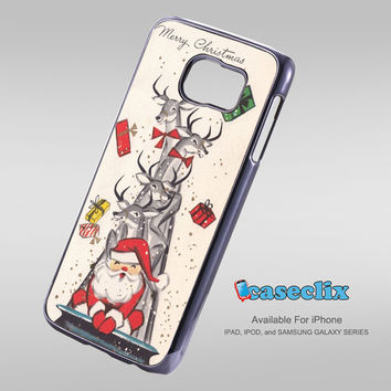 Vintage Christmas Santa Claus For Smartphone Case