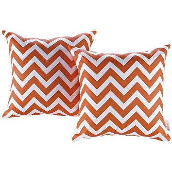Chevron Modway Two Piece Outdoor Patio Pillow Set
