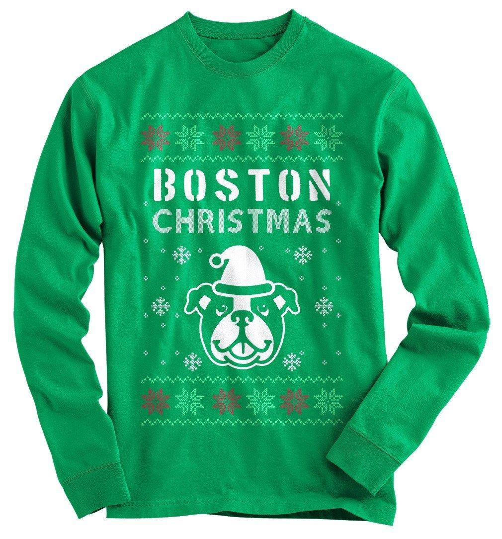 Boston Terrier Christmas Sweater.Boston Terrier Ugly Christmas Sweater