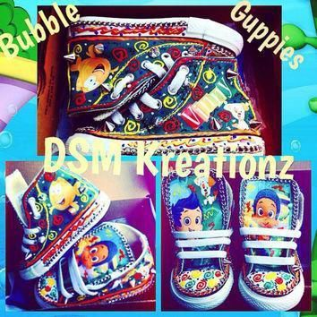 it s timeeeeeeee forrrrr bubble guppies custom converse shoes