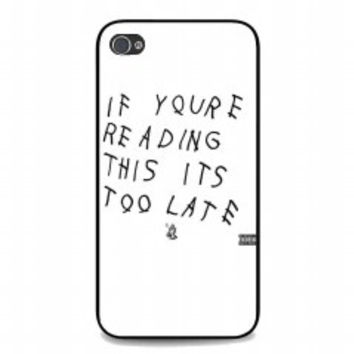 New Drake Lyrics for iphone 4 and 4s case