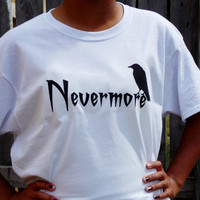 The Raven Nevermore T-Shirt. Edgar Alllan Poe The Raven. Classic Literature. Unisex Sizing Adult Shirt.