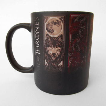 Color Changing Mug,Game of Thrones, Winter is Coming, Houses mottos symbols, Baratheon, Greyjoy,  Martell, Stark, Tully, Magic Mug Suppliers
