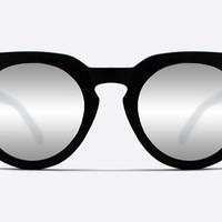 Quay Class Of 89 Black / Silver Mirror Sunglasses