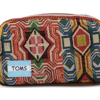 TOMS multi pattern mix departure cosmetic bag