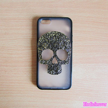50% OFF Skull iphone 5 Case,Metal iPhone 5 case, Skull iphone 5 cover,Skull iphone 5 skin,Vintage iphone 5 case,iPhone 5 plastic covers case