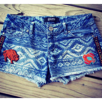 Tribal Print Shorts - size 3