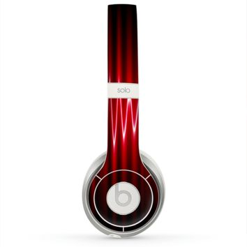 The Glowing Red Wiggly Line Skin for the Beats by Dre Solo 2 Headphones