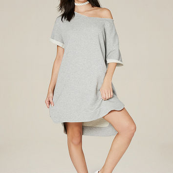 SIDE ZIP SWEATSHIRT DRESS