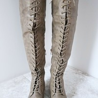 Standing Tall Boots: Taupe