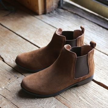 Jump Suede Boot, Tan