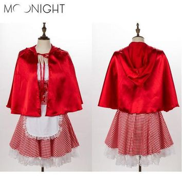 Moonight Halloween Costumes For Women Sexy Cosplay Little Red Riding Hood Costumes Fantasy Game Uniforms Fancy Dress Outfit
