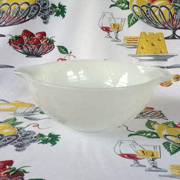 1950s Pyrex Opal 443 Cinderella Bowl 2 1/2 Qt  Hard To Find Mid Century Mod Vintage Kitchen