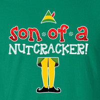 Son of a Nutcracker eleven cookies Buddy The Elf TV Movie Inspired Funny T-shirt kids youth Womens Santa Merry Christmas DT-650