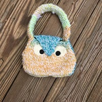 Owl Purse, Mini Purse with Owl Applique, Little Girls Handbag, Small Bag for Girls, Owl Lover, Gifts for Girls, Knitted Bag, Bird Lover