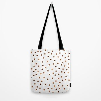 Copper Dots Pattern Tote Bag by oursunnycdays
