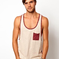 ASOS | ASOS Vest With Space Dye Pocket And Back Panel at ASOS