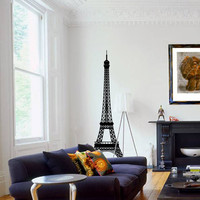 Large Eiffel Tower Silhouette Wall by CreativeDropPrinting on Etsy