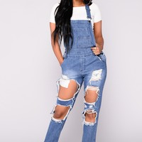 Mimosa Overall - Medium Blue Wash