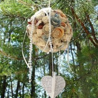 Paper Roses Kissing Ball by texaseagle on Zibbet