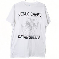 Jesus Saves Satan Sells T-Shirt (Select Size)