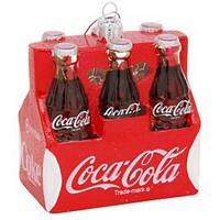 Kurt Adler 3-1/2-Inch Glass Coca-Cola Six Pack Ornament