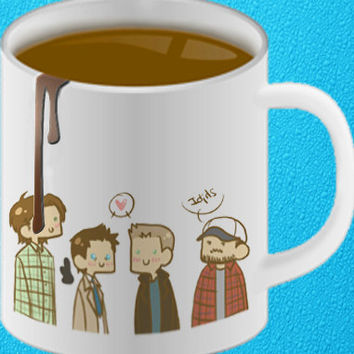 Supernatural mug coffee, mug tea, size 8,2 x 9,5 cm heppy coffee.